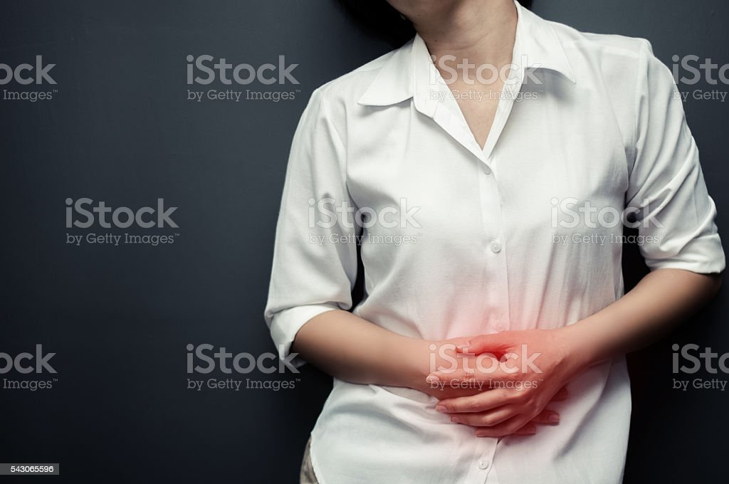 stomachache. stock photo