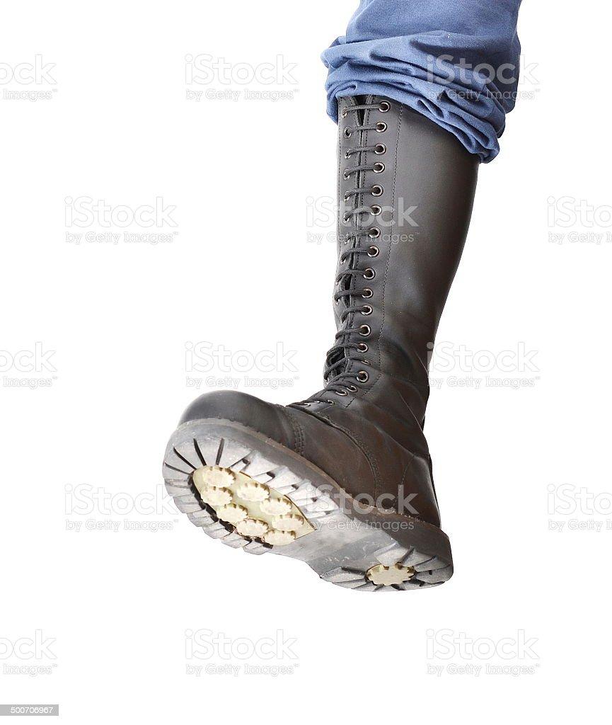 Stomping boot stock photo