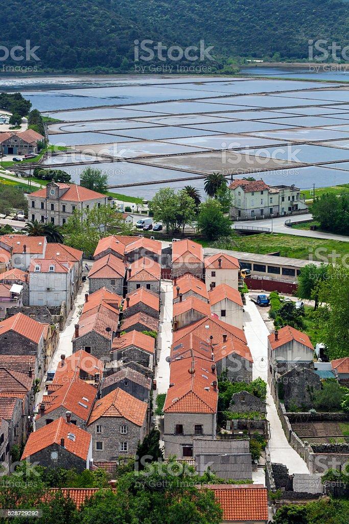 Ston (Croatia) stock photo
