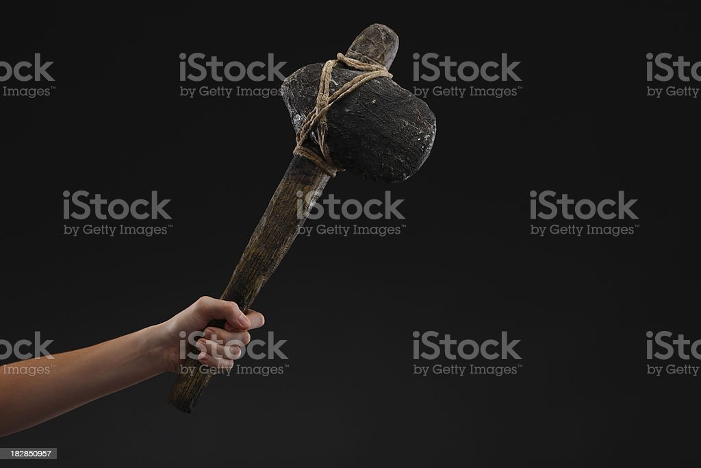 Stone Age weapons stock photo