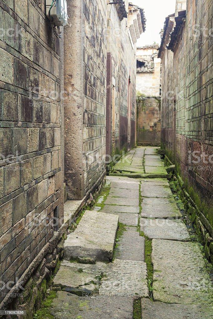 stone alley stock photo