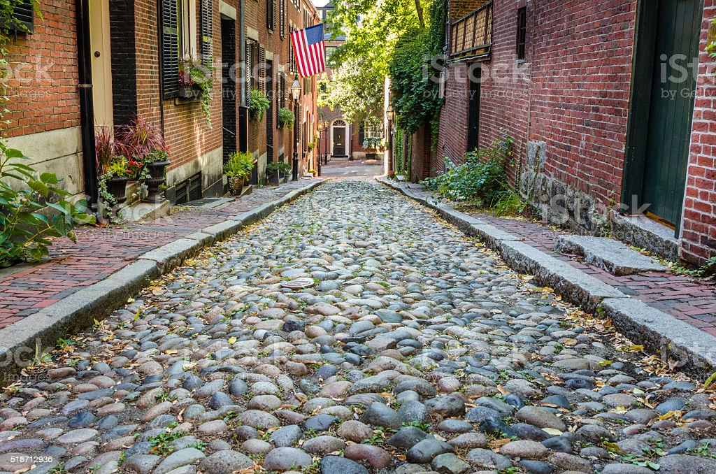 Stone Alley stock photo