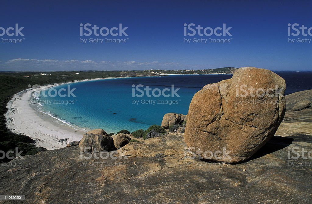 Stone and beach royalty-free stock photo