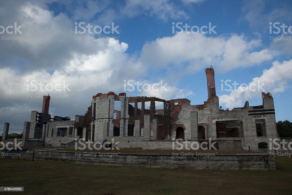 Stone and brick ruins stock photo