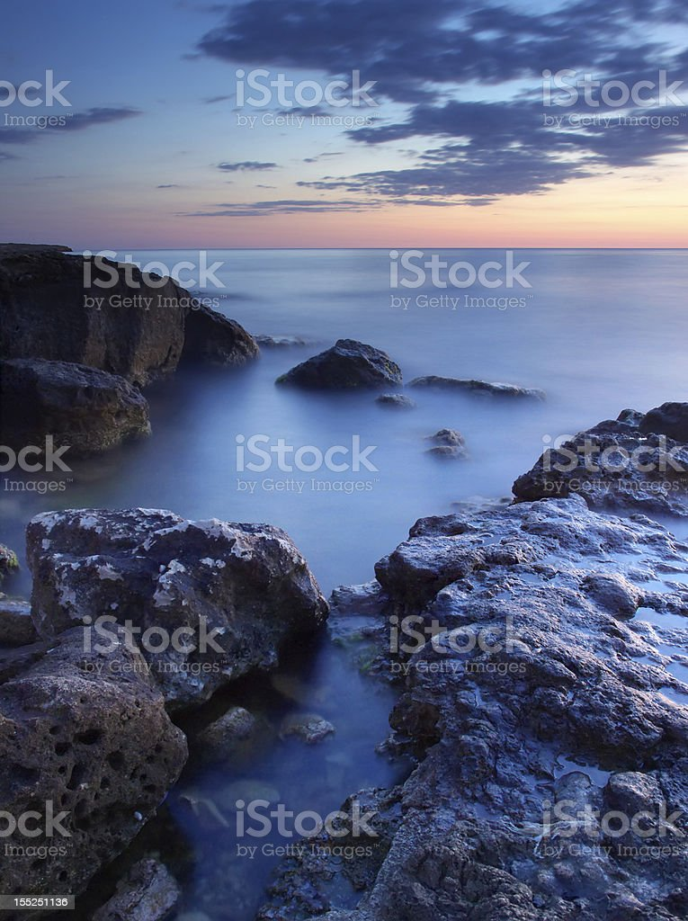 Stone and reflections royalty-free stock photo