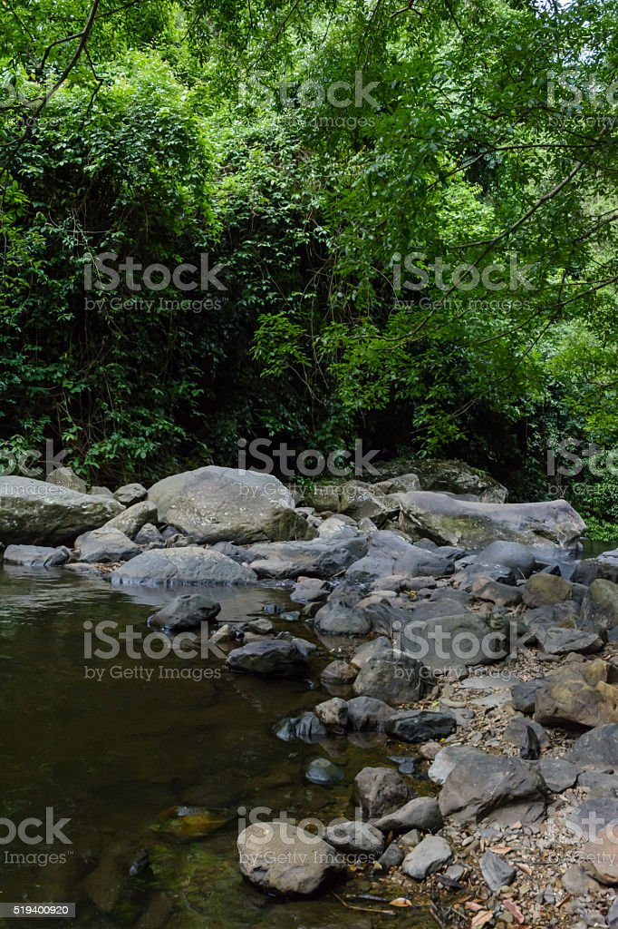 stone and river stock photo