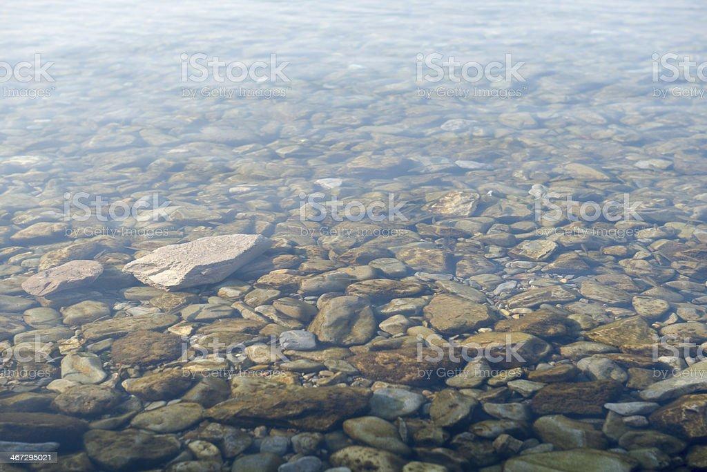 Stone and water background - Lake Ohrid, Macedonia stock photo
