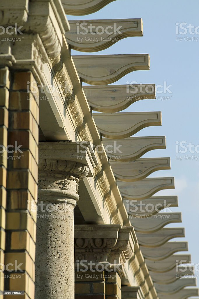 Stone and wood structure royalty-free stock photo
