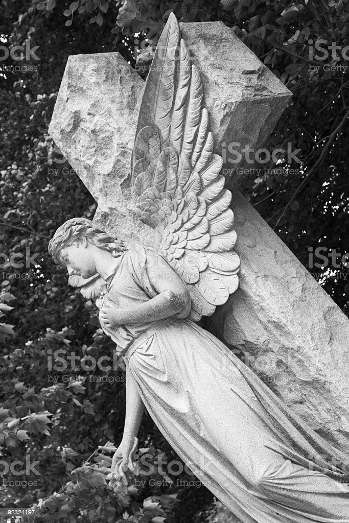 Stone Angel royalty-free stock photo