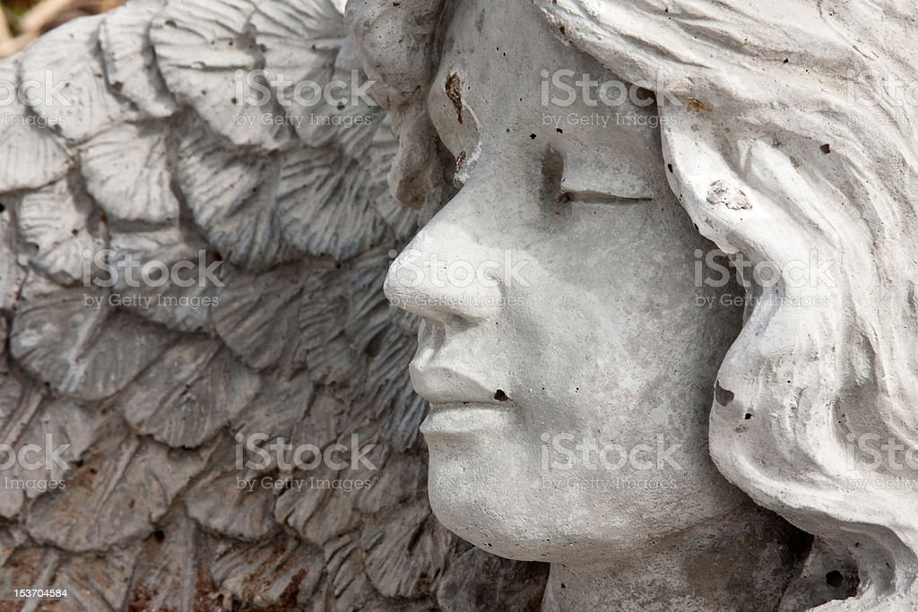 Stone Angel Profile stock photo