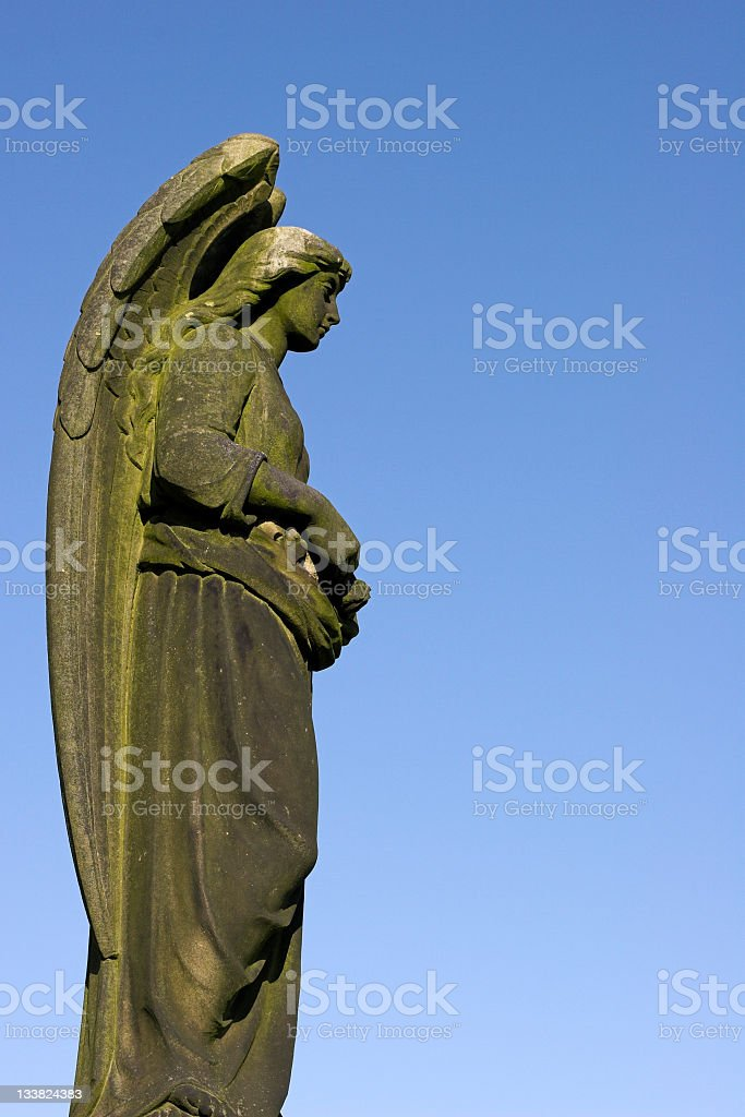 stone angel statue royalty-free stock photo