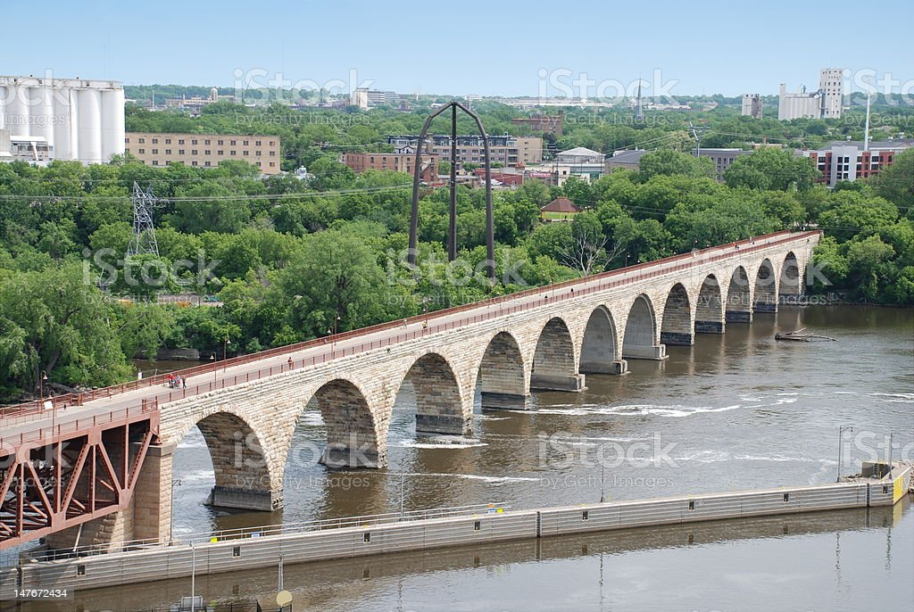 Stone Arch Bridge stock photo