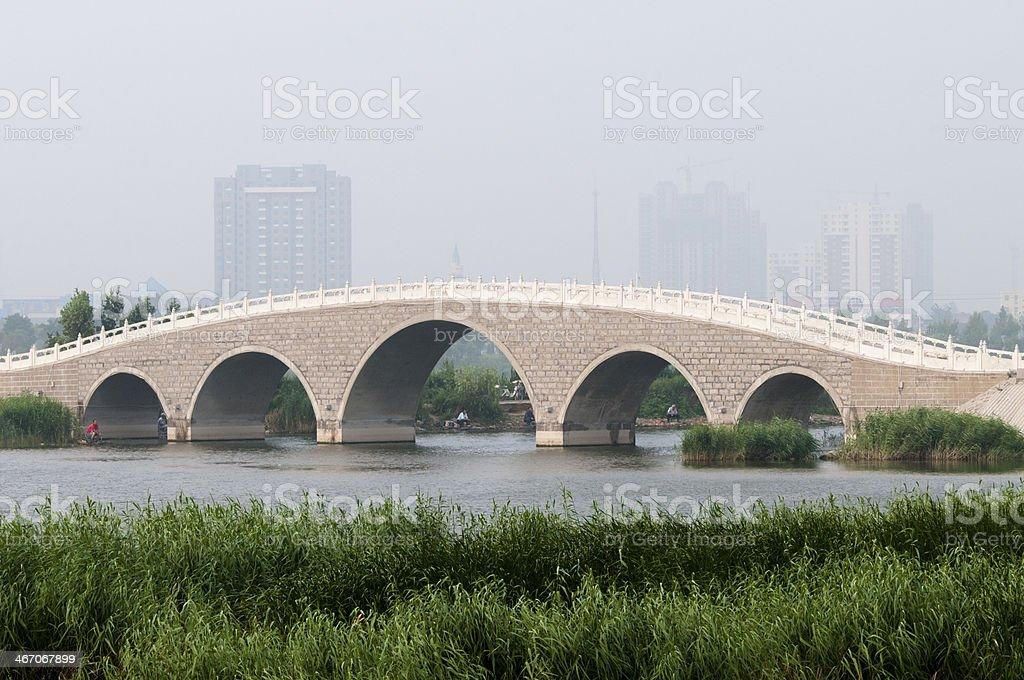 stone arch bridge royalty-free stock photo