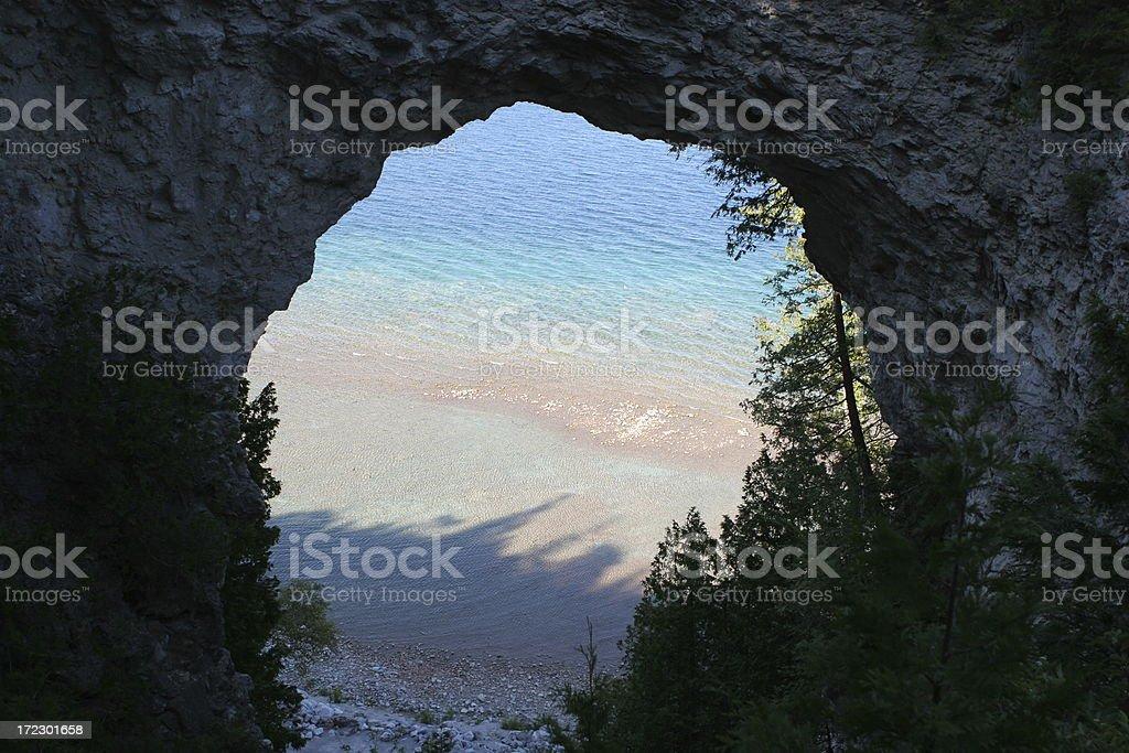 Stone arch - Mackinaw Island, Michigan stock photo