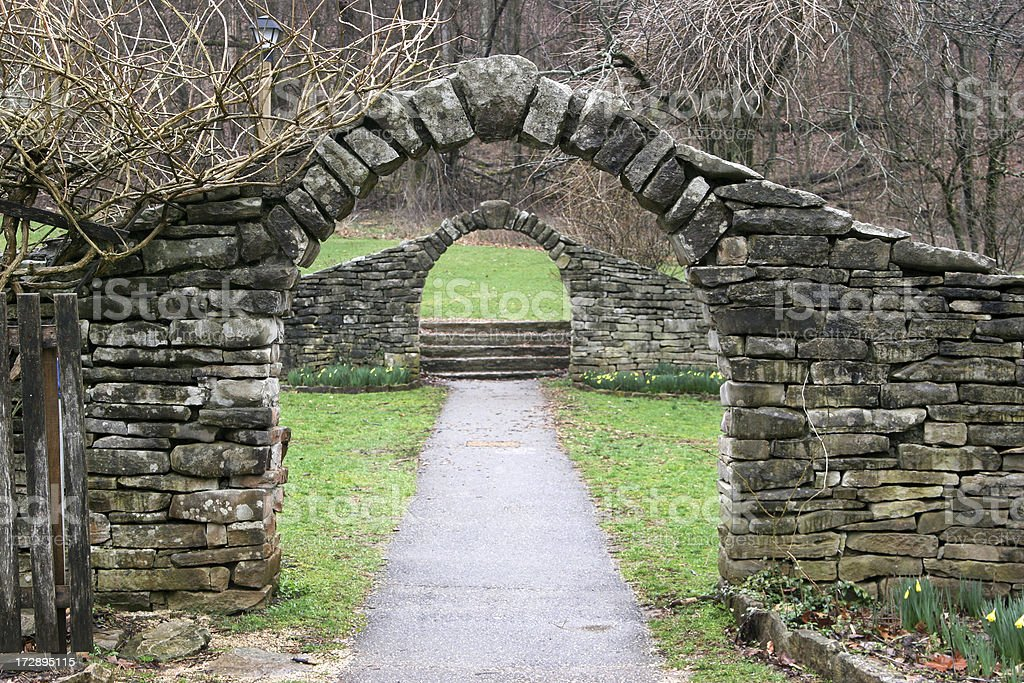 Stone Archway stock photo