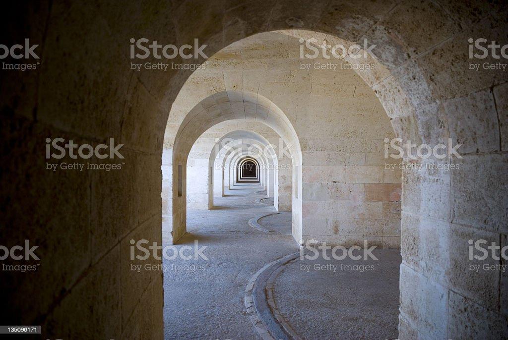 Stone Archways stock photo