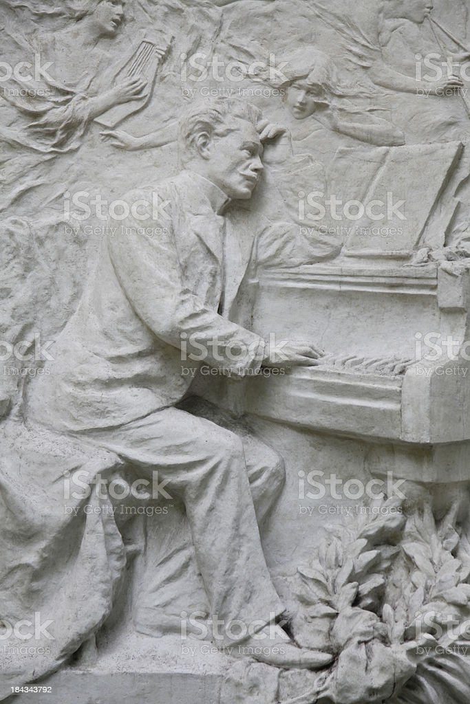 Stone at a Graveyard royalty-free stock photo