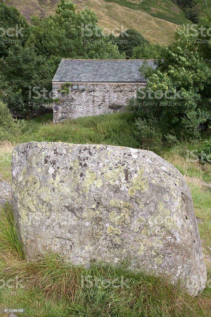 Stone at Watendlath; Lake District stock photo