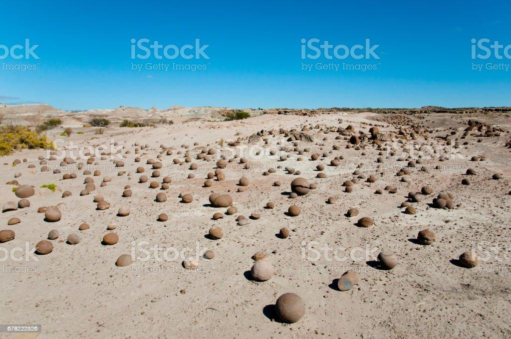 Stone Balls - Ischigualasto Provincial Park - Argentina stock photo