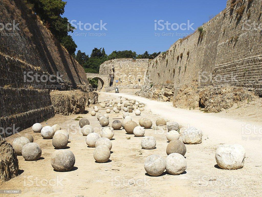 Stone balls stock photo