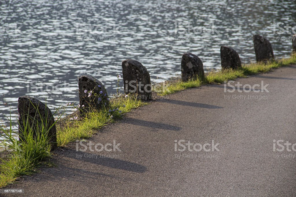 Stone Barrier stock photo