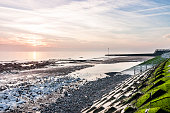 Stone Bay beach in Broadstairs, Thanet, Kent, England