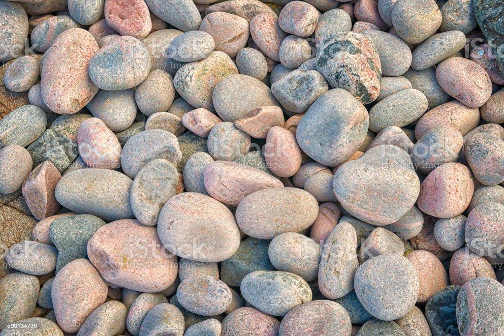 Stone beach close up stock photo