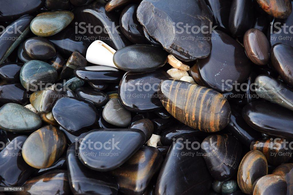 Stone beach stock photo