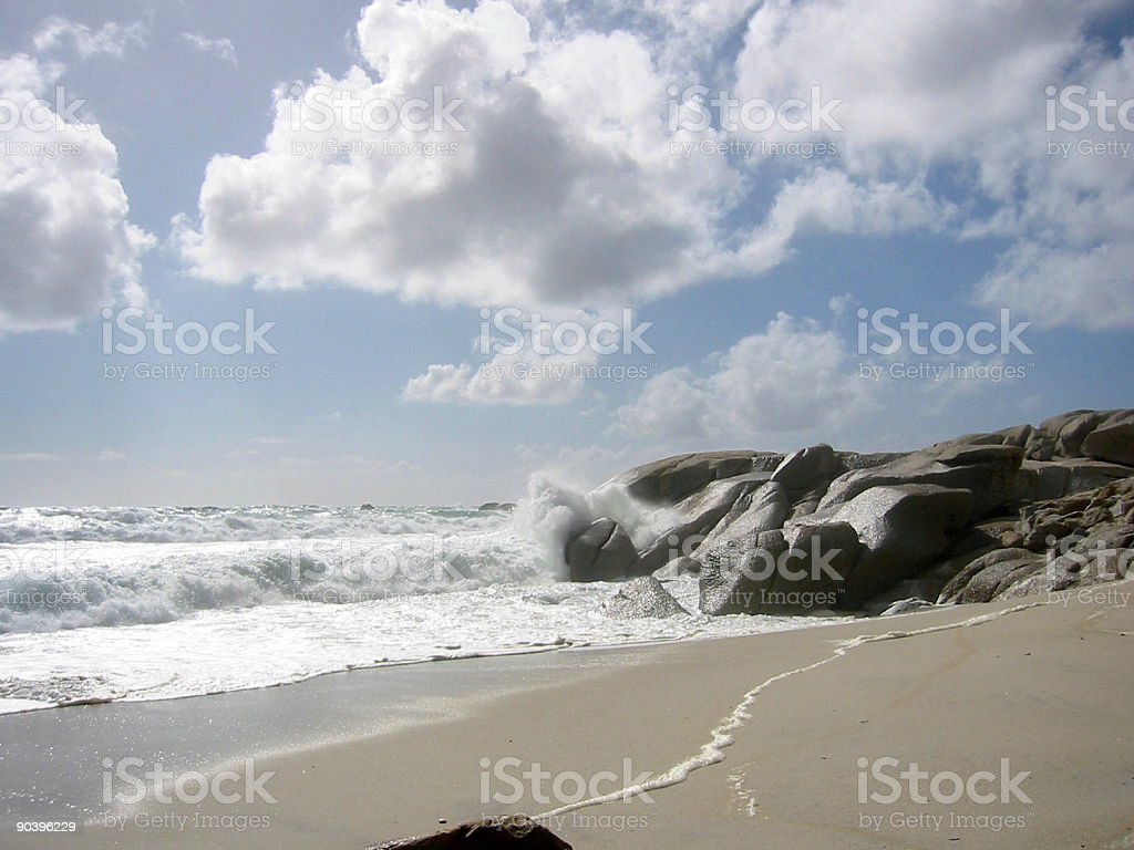 stone beach stock photo