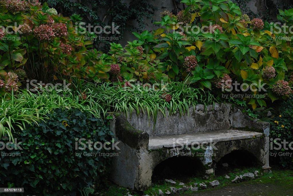 Stone Bench in Sorrento, Italy royalty-free stock photo
