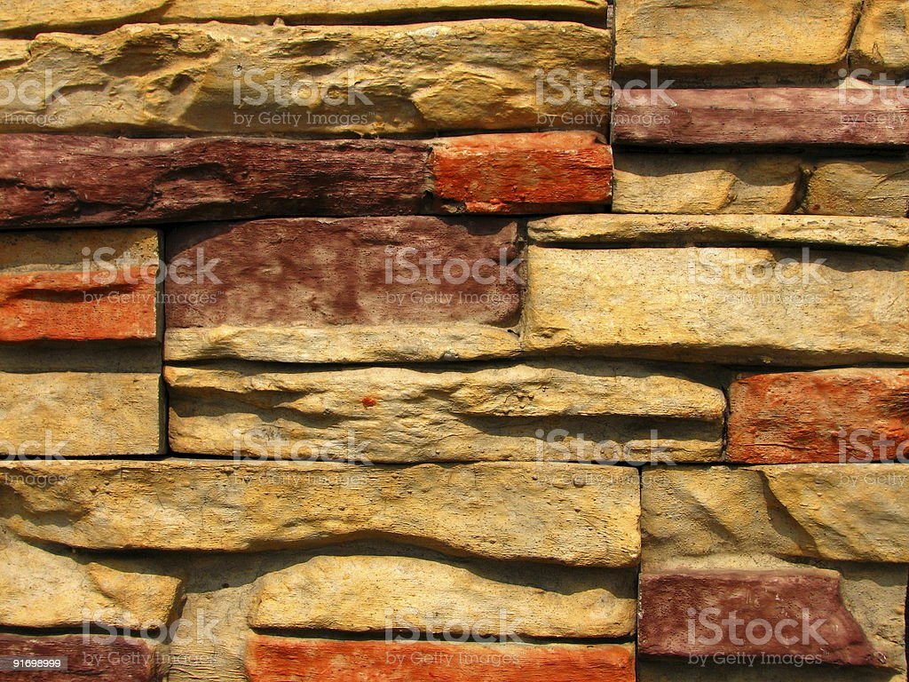 Stone Brick Wall Pattern royalty-free stock photo