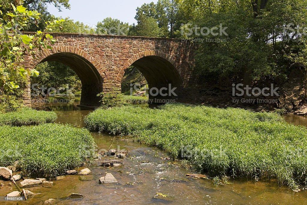 Stone Bridge at Battlefields of Manassas stock photo
