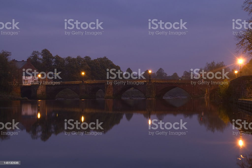 Stone Bridge at Night royalty-free stock photo