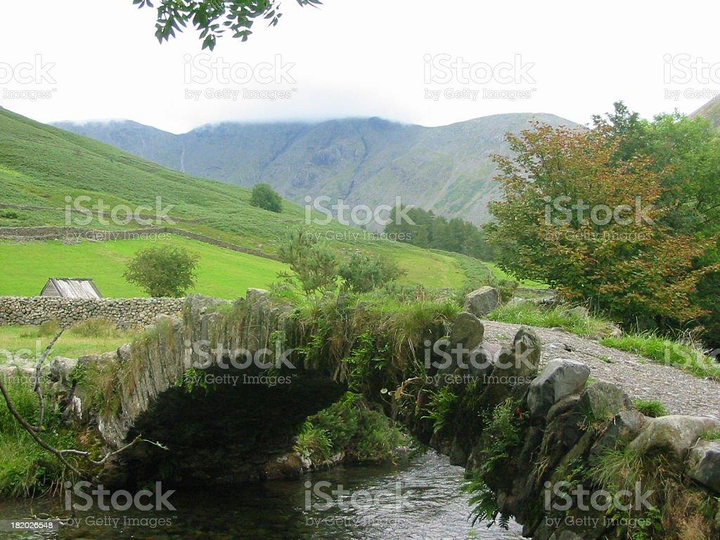 Stone Bridge (footbridge) no parapet stock photo