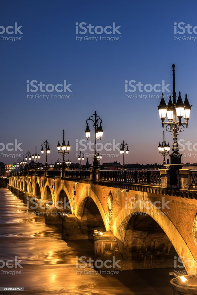 Pont de Pierre stock photo