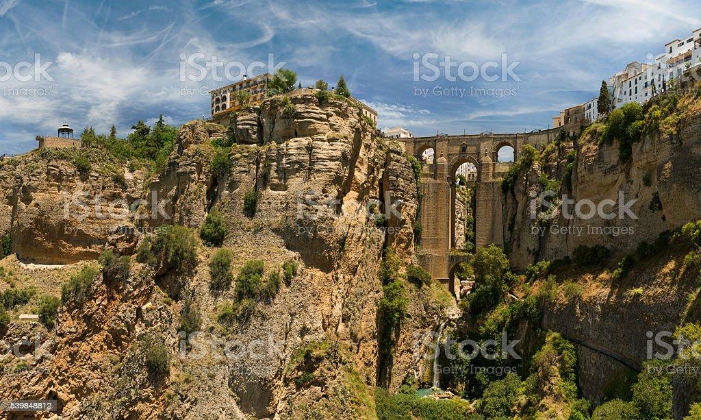 Stone bridge Puente Nuevo in Ronda, Spain stock photo