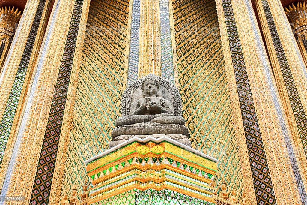 Stone Buddha statue stock photo