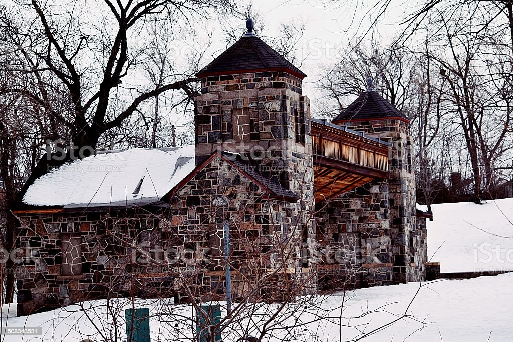 Stone Building in the Park royalty-free stock photo