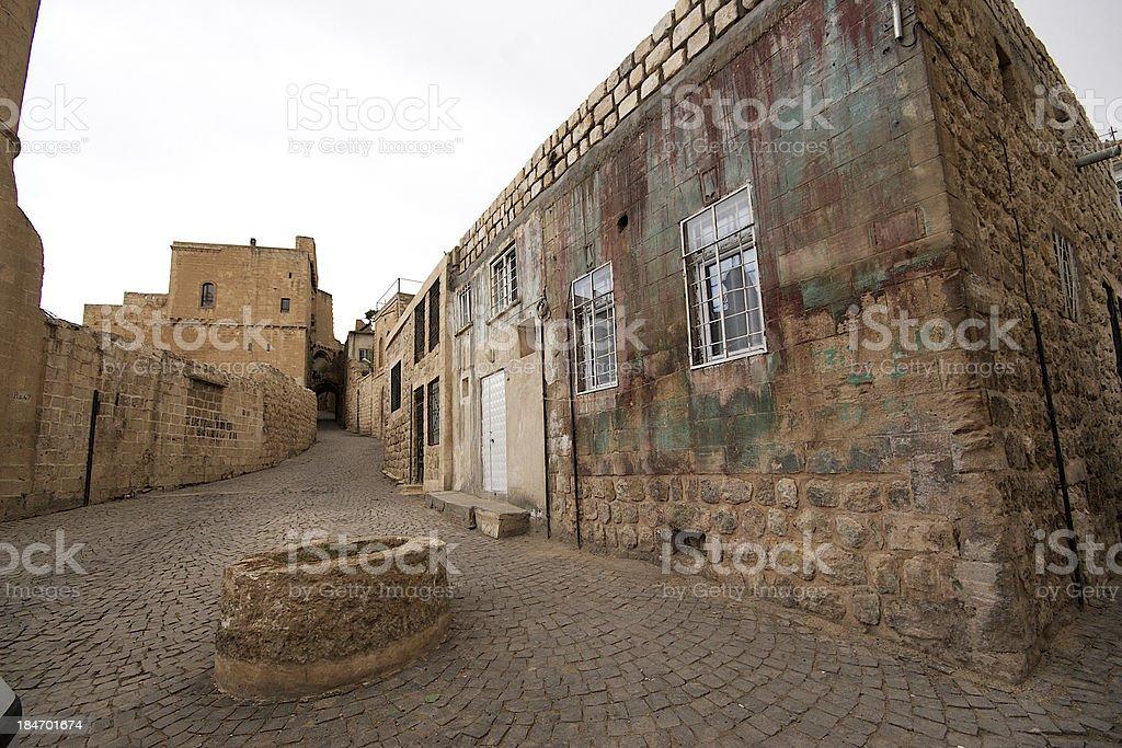 Stone buildings of Mardin old town in Turkey. stock photo