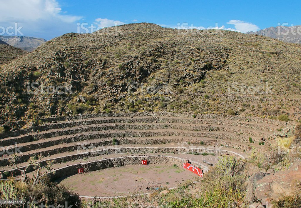 Stone bullring in Chivay, Peru stock photo