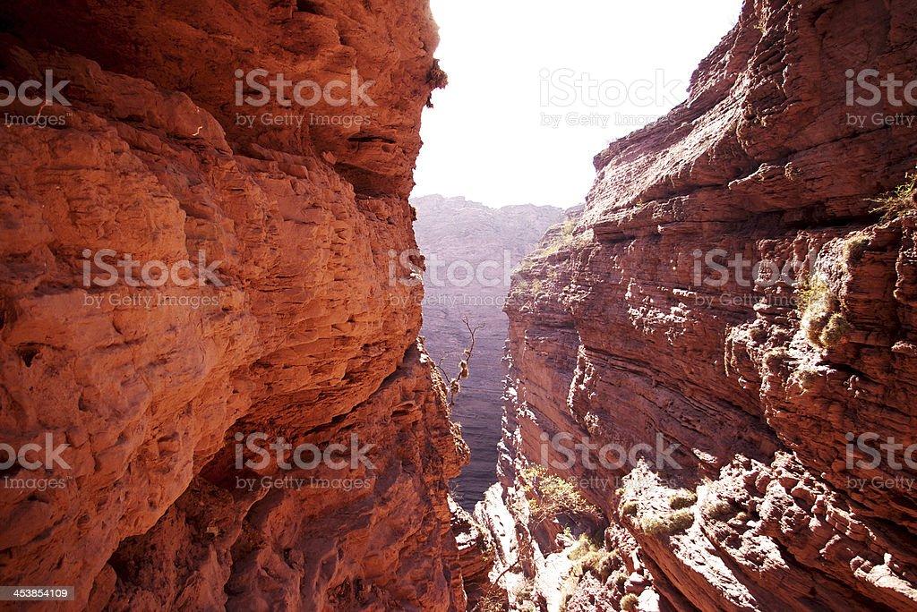 Stone canyon stock photo