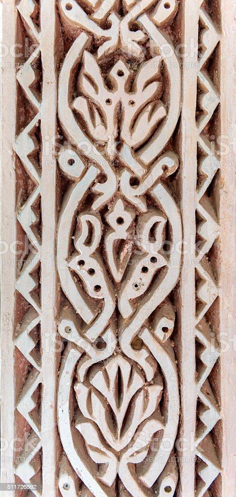 Stone carved filigree stock photo