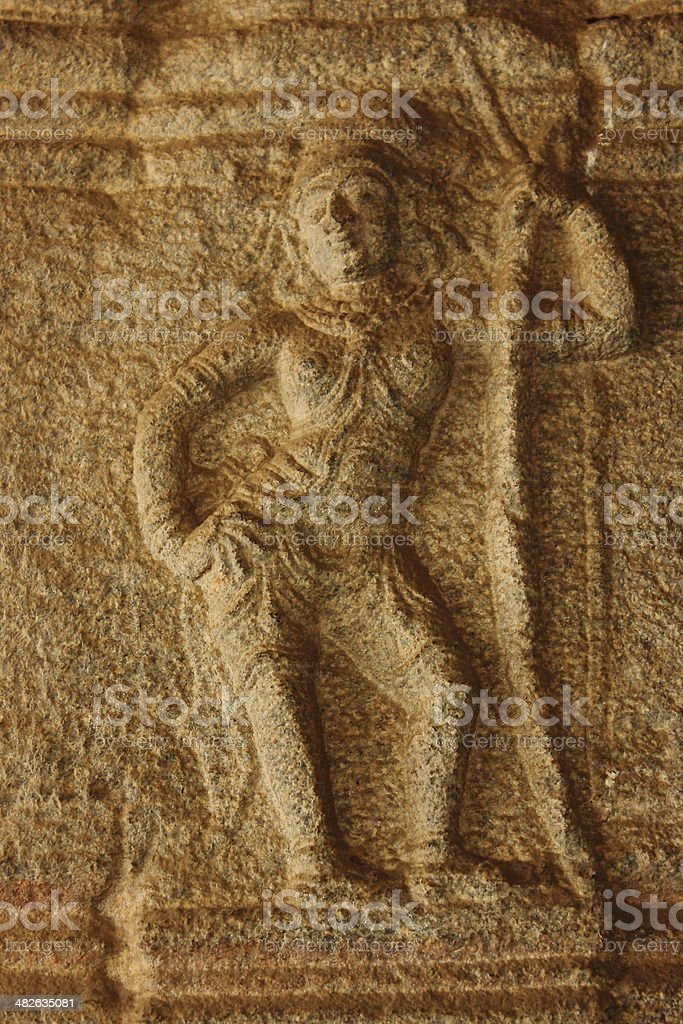 Stone carved sculpture of a lady royalty-free stock photo