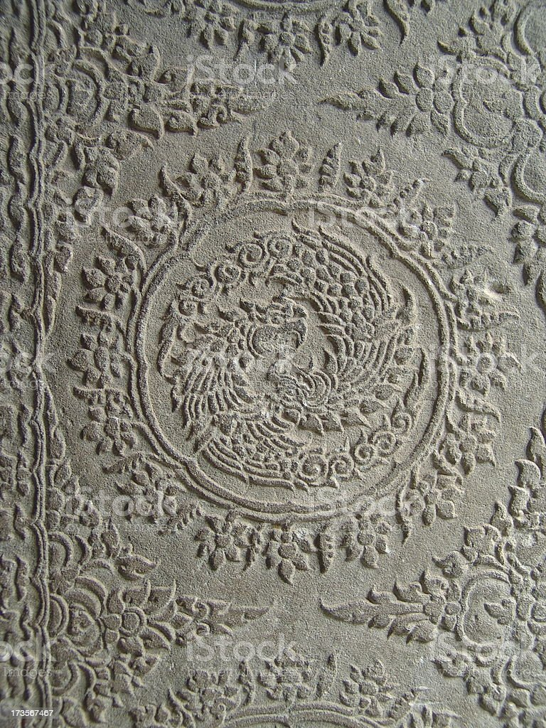 Stone Carving Detail Angkor Wat royalty-free stock photo