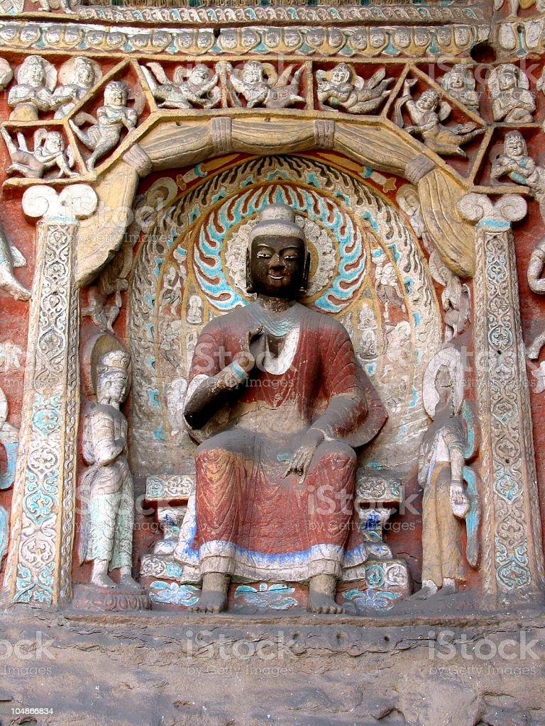 Stone carving of Buddha royalty-free stock photo