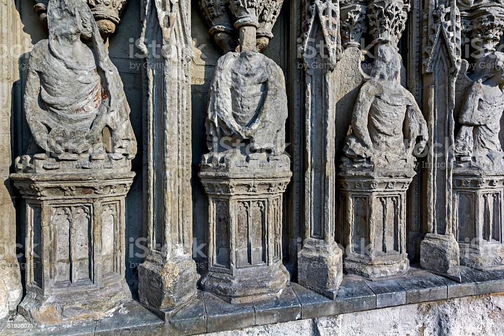 Stone Carvings Exeter Cathedral stock photo