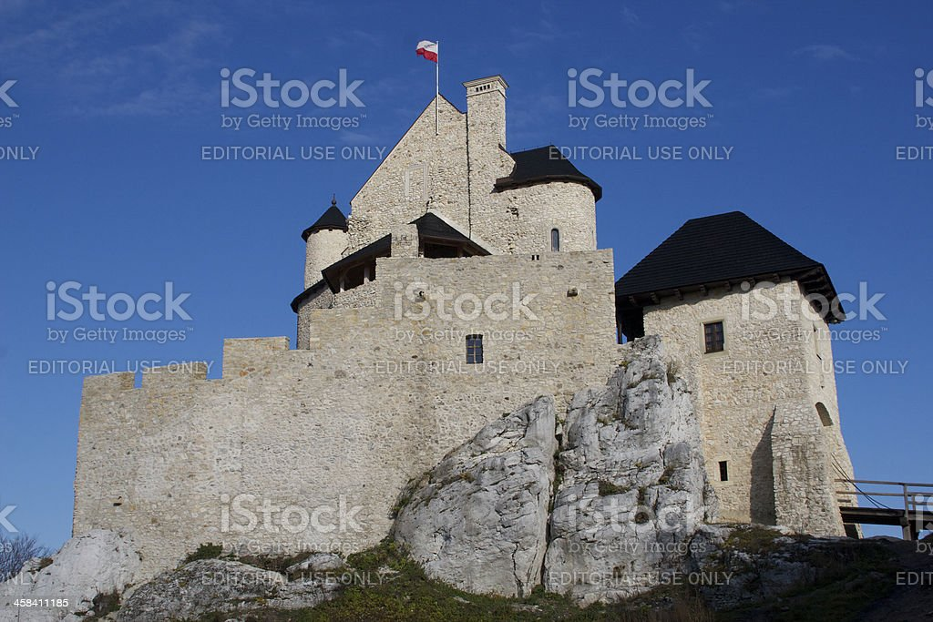 Stone castle in Poland royalty-free stock photo