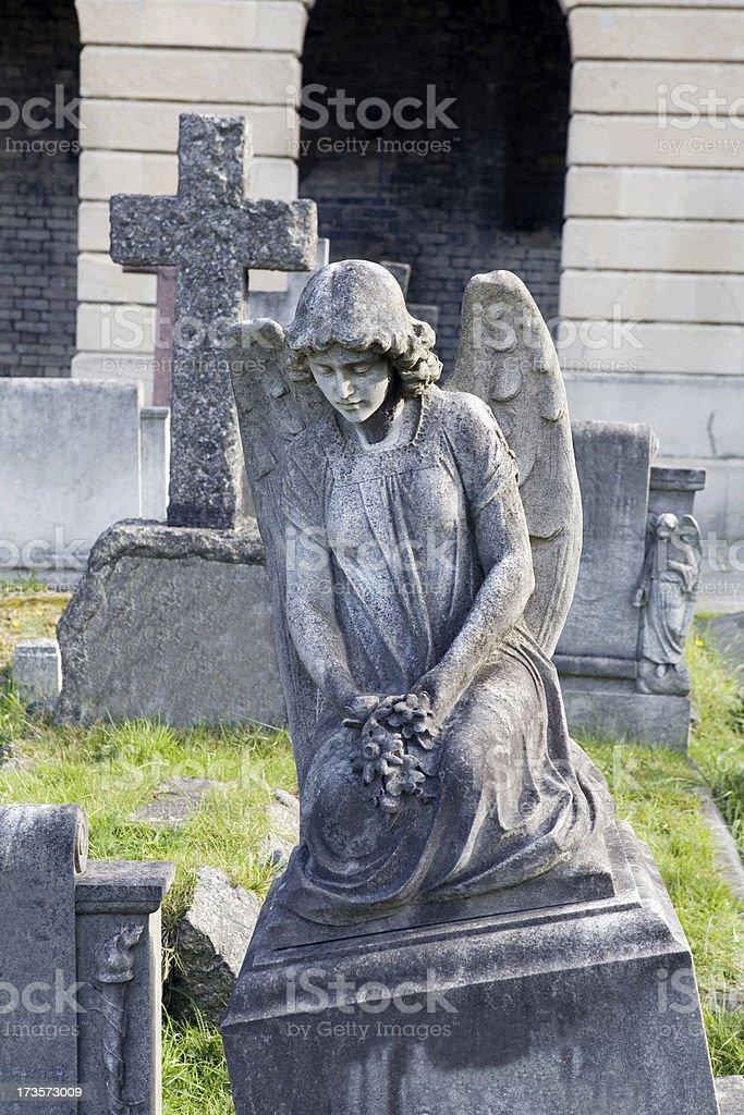 Stone Cemetery Angel stock photo