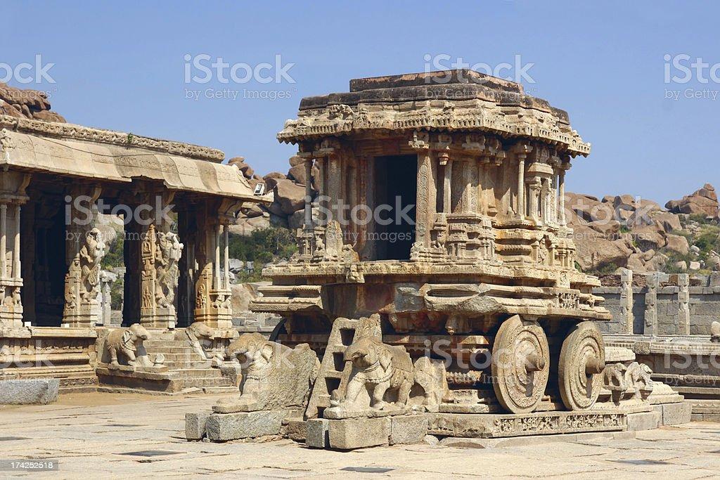 Stone Chariot in Vittala Temple, Hampi, India royalty-free stock photo