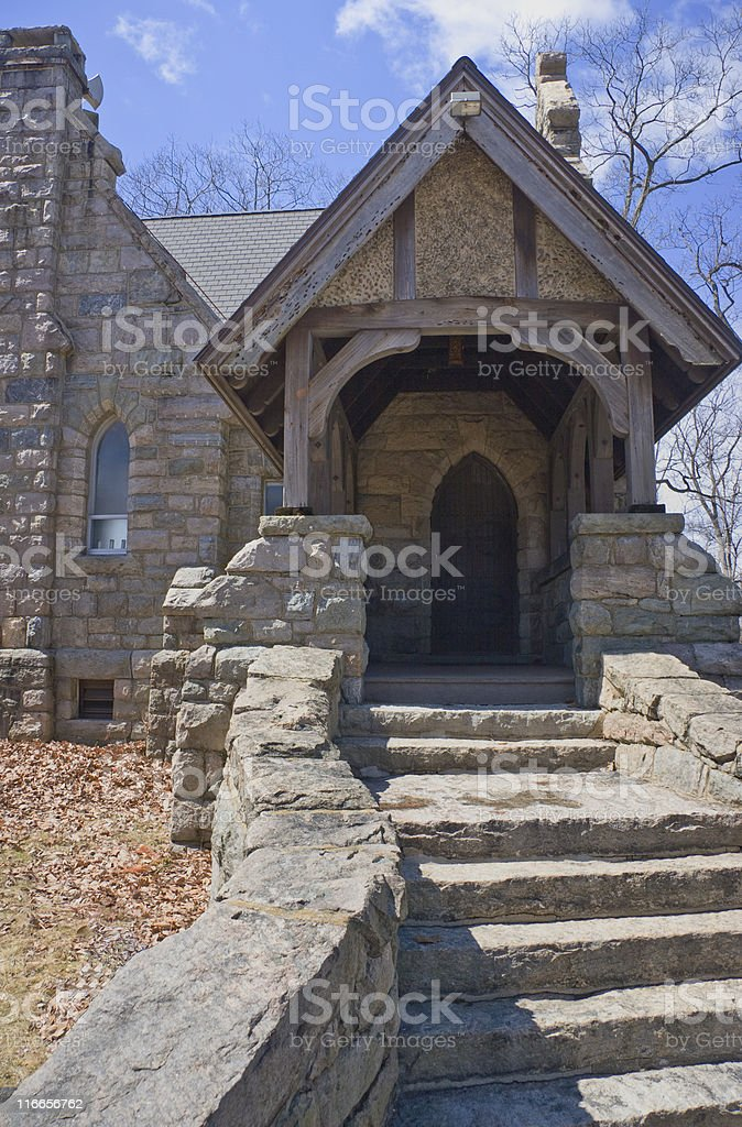 Stone Church Entrance stock photo